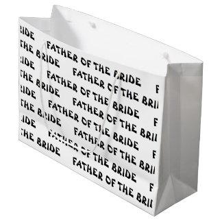 """""""Vater der Braut"""" Geschenk-Tasche Große Geschenktüte"""