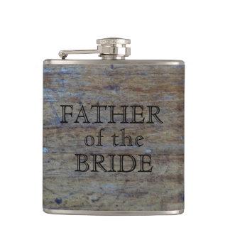 Vater des Hochzeits-Holz-Kornes der Braut-| Flachmann