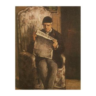 Vater Louis Auguste Cezanne der Künstler-Lesung Holzleinwand