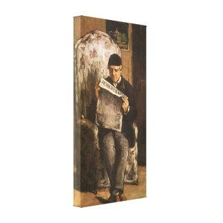 Vater Louis Auguste Cezanne der Künstler-Lesung Leinwanddruck