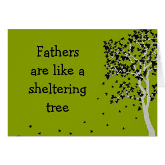 Väter sind wie eine schützende Baum ~ Karte