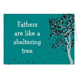 Väter sind wie eine schützende tree~ Karte