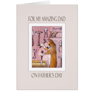 Vatertagskarte, Vati, Corgihund in seiner Karte