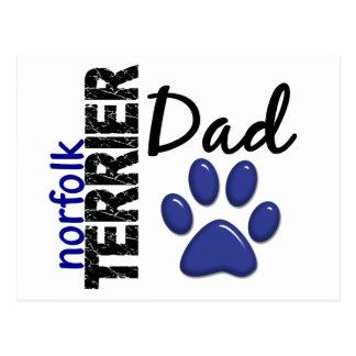 Vati 2 Norfolks Terrier Postkarte