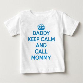 Vati behalten den ruhigen T - Shirt (blau)