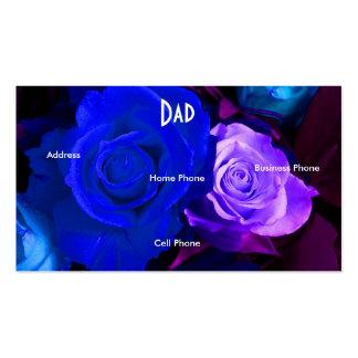Vati-blaue lila Rosen-Visitenkarte