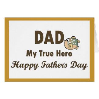Vati der mein Vatertag wahrer Held-glückliche Karte