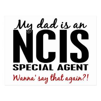 Vati ist ein NCIS Special-Agent Postkarte