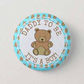 Vati sein Teddybär sein ein Jungen-Knopf Runder Button 5,7 Cm