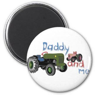 Vati und ich Mädchen-Traktoren Magnete