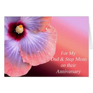 Vati-und Schritt-Mamma-Jahrestags-Karte Grußkarte