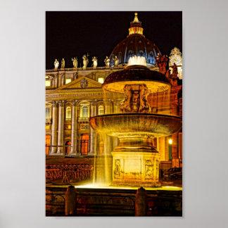 Vatikan-Nacht Poster