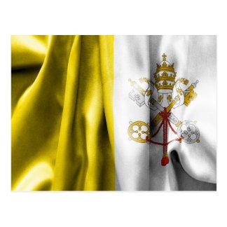 Vatikanstadt-Flaggen-Postkarte Postkarte