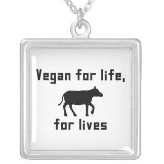 Vegan für das Leben Versilberte Kette