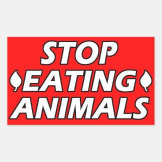 Vegane | Aktivismus-Aufkleber | retten die Tiere Rechteckiger Aufkleber