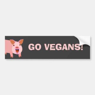 Veganer Autoaufkleber