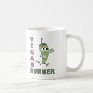 Veganer Läufer - laufender Pfeffer Kaffeetasse