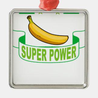 VEGANER SUPERPower. Silbernes Ornament