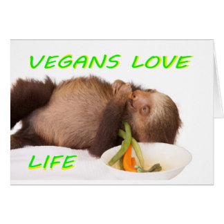 Vegans-Liebeleben, slothie Karte