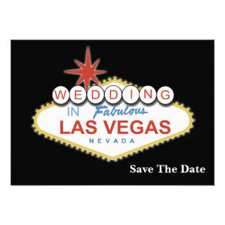 Vegas, der Save the Date Mitteilung wedding ist Personalisierte Einladung