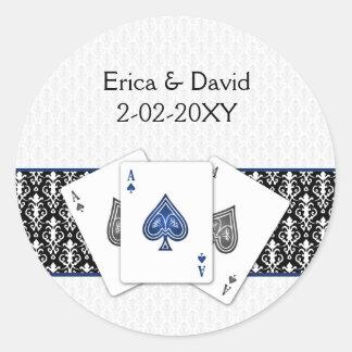 Vegas-Hochzeits-Umschlag Aufkleber