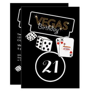 Vegas-Licht-21. Geburtstags-Party Einladung