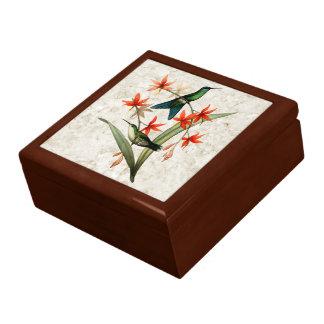 Veilchen mit einer Kappe bedeckter Geschenkbox