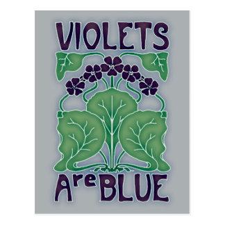 Veilchen sind blau postkarte