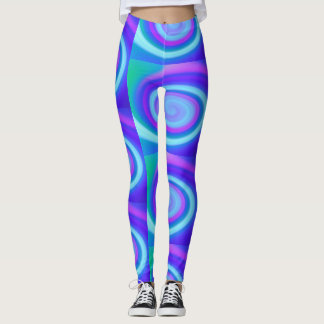 Veilchen u. Purpur in den Spiralen Leggings