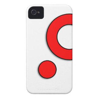 """Vektorkunst """"Kreise"""" (Rot) iPhone 4 Cover"""