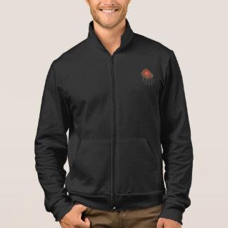 Veloursleder-Kalifornien-Fleece-Ziprüttler Jacke