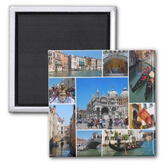 Venedig-Collage Quadratischer Magnet