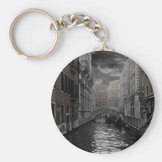 Venedig in Schwarzweiss Schlüsselanhänger