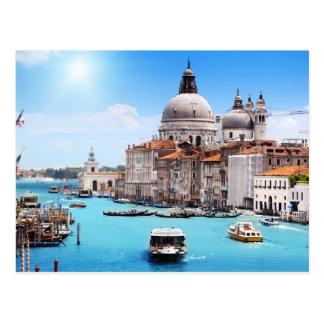 Venedig-Kanal in der Sommer-Postkarte Postkarte