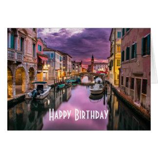 Venedig, landschaftlicher Kanal Italiens u. Grußkarte