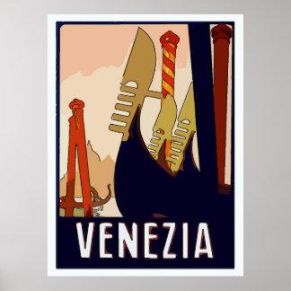 Venedig-Reise-Zeichen Poster