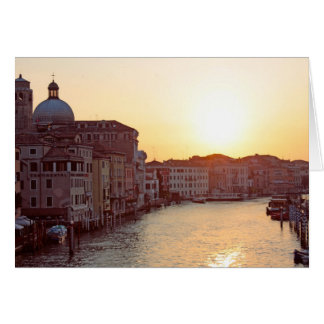 Venedig, Sonnenuntergang auf dem Kanal groß Karte