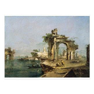 Venezianischer Capriccio durch Francesco Guardi Postkarte
