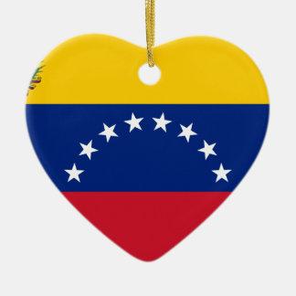 Venezolanische Flagge - Flagge von Venezuela - Keramik Herz-Ornament