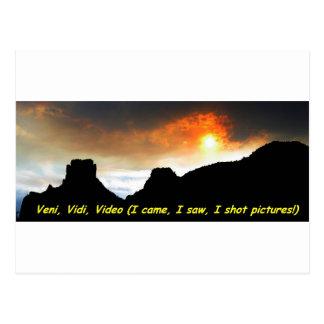 Veni Vidi Video Postkarte