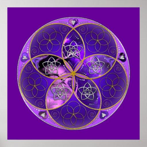 venus blume des violetten rosas der liebe sch nen poster. Black Bedroom Furniture Sets. Home Design Ideas