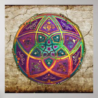 Venus-Blume Liebe-schöne Künste orientalischen ant Poster