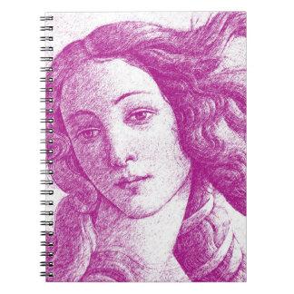 Venus * Sandro Botticelli Spiral Notizblock