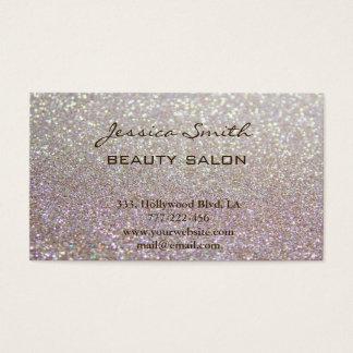 Verabredungskarte elegantes Chic-Imitat glittery Visitenkarten