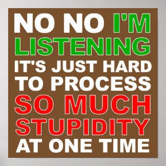 Verarbeiten Sie Ihr Dummheits-lustiges Poster