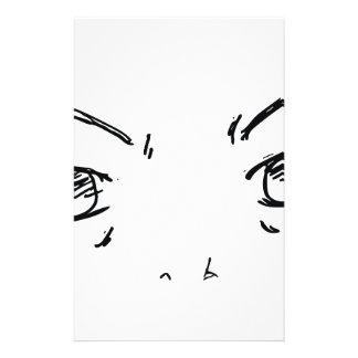 Verärgerte Augen 1 Briefpapier