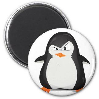 Verärgerter Pinguin Runder Magnet 5,1 Cm