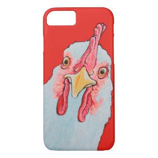 Verärgertes Huhn im Rot iPhone 8/7 Hülle