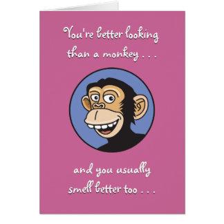 Verbessern Sie als ein Affe-Geburtstag Mitteilungskarte