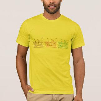 Verbesserungen in Velocipedes Tri Farbe T-Shirt